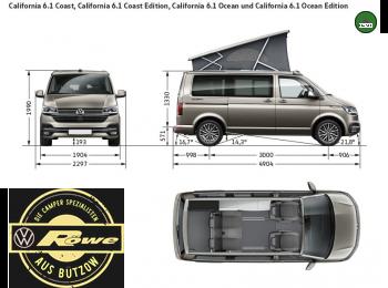 VW T6.1 California Coast 2.0 TDI Schalter